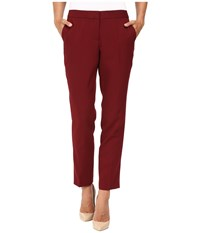 Vince Camuto Skinny Ankle Pants Malbec Red Women's Casual Pants Burgundy