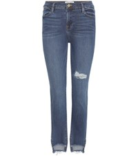 Frame Le High Straight Cropped Jeans Blue