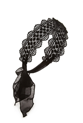 Forever 21 Self Tie Crochet Headwrap Black