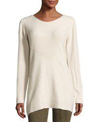 P. Luca Boatneck Ribbed Sweater Tunic Sand