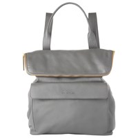 Whistles Verity Large Leather Backpack Dark Grey