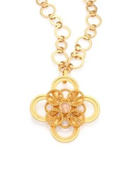 Stephanie Kantis Infinity White Quartz Pendant Gold