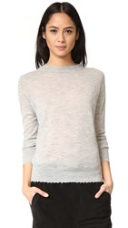 Vince Distressed Trim Cashmere Sweater H. Steel