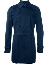 Corneliani Trench Coat Blue