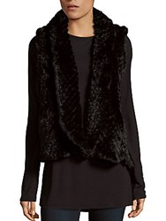Love Token Alicia Faux Fur Vest Black