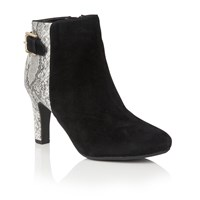 Lotus Kanon Animal Print Ankle Boots Grey