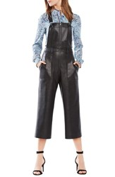 Women's Bcbgmaxazria 'Jamee' Crop Faux Leather Overalls