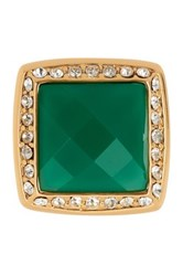 Trina Turk Square Stone Ring Green