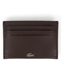 Lacoste Brown Crocodile Logo Card Wallet