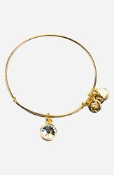 Women's Alex And Ani Birthstone Expandable Wire Bangle April Crystal