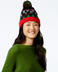 Planet Gold Juniors' Light Up Snowflake Beanie Hat Black Red Green