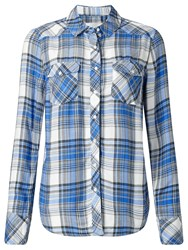 John Lewis Collection Weekend By Jessa Check Shirt Blue White