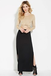 Forever 21 High Slit Maxi Skirt