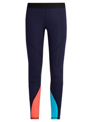Salt Gypsy Contrast Panel Performance Leggings Navy Multi