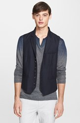 John Varvatos Men's Collection Extra Trim Fit Linen And Wool Vest