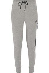 Nike Tech Fleece Cotton Blend Track Pants Gray