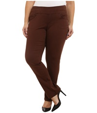Jag Jeans Plus Size Peri Pull On Straight Jeans In Java Dark Java Dark Women's Jeans Brown