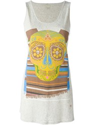People People Stripe Cinco De Mayo Skull Print Tank Top Nude And Neutrals