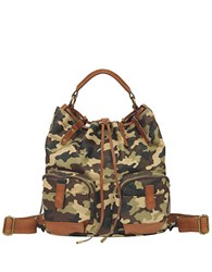 Lucky Brand The Carly Backpack Army Cheetah