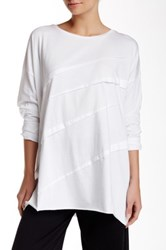 Planet Diagonal Tuck Tee White