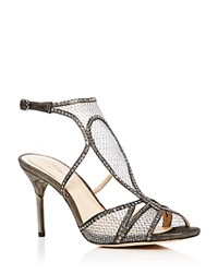 Imagine Vince Camuto Pember Metallic Mesh High Heel Sandals Silver