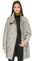 Madewell City Grid Coat Almost Black