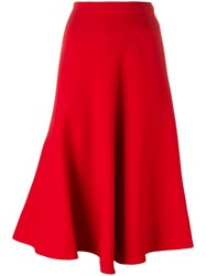 Marni Draped Midi Skirt Red