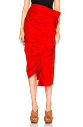 Isa Arfen Ruched Up Skirt In Red