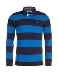 Eden Park Striped Cotton Rugby Shirt Navy