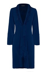 James Lakeland Long Frill Cardigan Navy