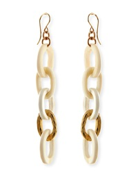 Ashley Pittman Mini Mara Light Horn Drop Earrings