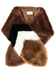Urbancode Fur Scarf Brown