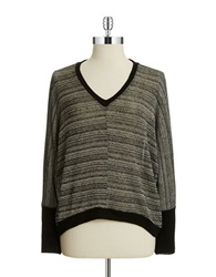 Casual Couture By Green Envelope Marled Pullover Sand Grey