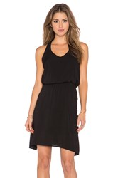 Splendid Asymmetrical Mini Dress Black