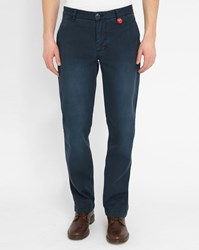 Knowledge Cotton Apparel Navy Worker Wide Trendy Chinos