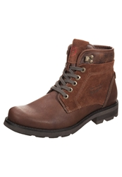 Tom Tailor Laceup Boots Rust Brown