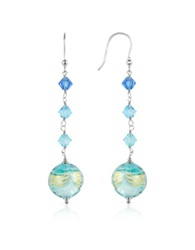 House Of Murano Mare Turquoise Murano Glass Bead Earrings