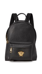Versace Leather Backpack Black Gold