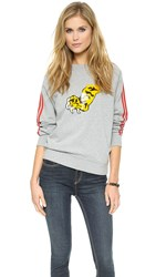 Marc By Marc Jacobs Peyton French Terry Sweatshirt Grey Melange Multi