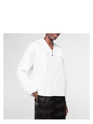 Paul Smith Women's White Cotton Shirt With Frilled Neck Black
