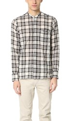 Ovadia And Sons Crosby Plaid Shirt White Black