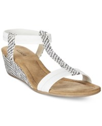 Alfani Women's Voyage Wedge Sandals Only At Macy's Women's Shoes White Snake