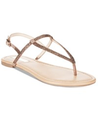 Inc International Concepts Women's Macawi Embellished Flat Sandals Only At Macy's Women's Shoes Light Bronze
