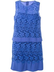 Alberta Ferretti Lace Dress Blue