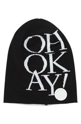 Men's Converse 'Oh Okay' Slouchy Knit Beanie Black Converse Black