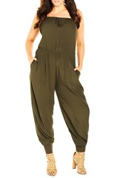 City Chic Plus Size Women's 'On Call' Jumpsuit