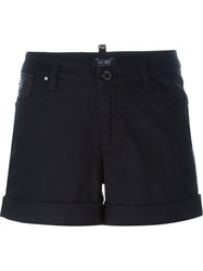 Armani Jeans Cuffed Shorts Blue