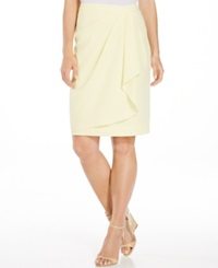 Jones New York Faux Wrap Skirt Yellow