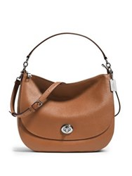 Coach Pebbled Leather Turnlock Hobo Bag