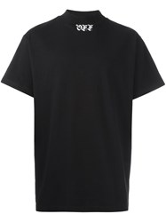 Off White Logo Print T Shirt Black